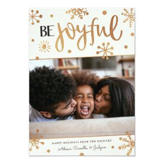 Joyful Snowflakes Photo Holiday Card