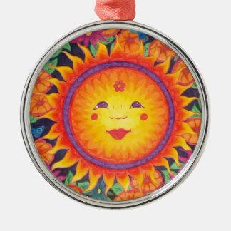 Joyful Sun Full Size Metal Ornament