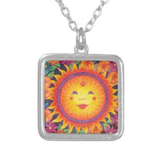 Joyful Sun Full Size Silver Plated Necklace