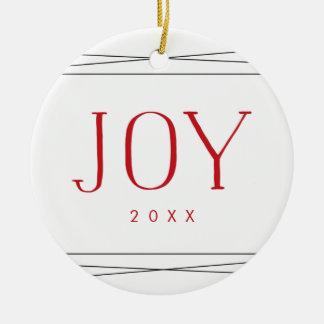 Joyful Symmetry | Double-Sided Photo Ceramic Ornament