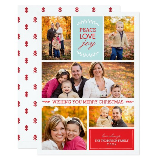 Joyful Wishes Photo Holiday Card