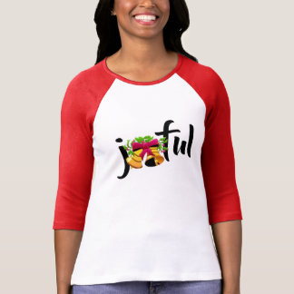 joyful xmas merry christmas t-shirt design woman's
