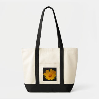Joyful yellow flower and meaning canvas bags
