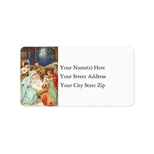 Joyful Yuletide Vintage Address Label
