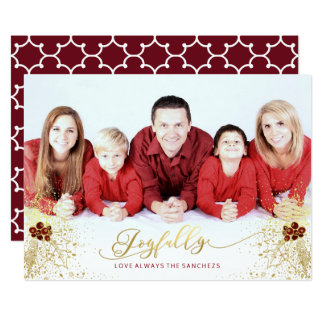 Joyfully Confetti Card w/white envelopes included
