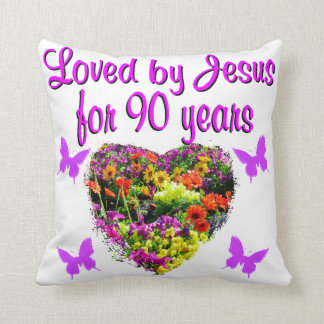 JOYOUS 90 YR OLD THROW CUSHIONS