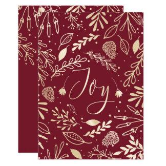 Joyous Branches Elegant Holiday Greeting Card