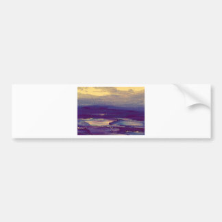 Joyous Day Ocean Scape Purple Gold Sunset Bumper Sticker