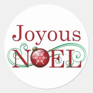 Joyous Noel Stickers