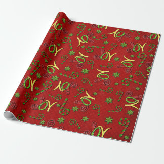Joyous Occasions Whimsey RED ALL PURPOSE Wrapping Paper