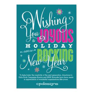 Joyous & Rocking New Year Card