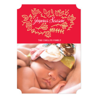 Joyous Season 13 Cm X 18 Cm Invitation Card