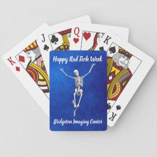 "Joyous Skeleton ""Happy Rad Tech Week"" Playing Cards"