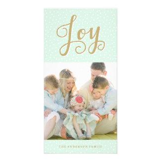 Joyous Snowfall Holiday Photo Cards