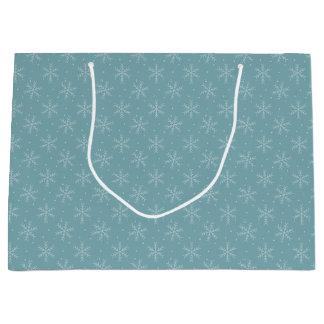Joyous Snowflakes Large Gift Bag