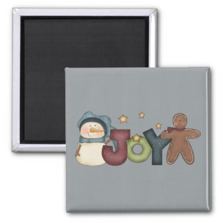 Joyous Snowman & Gingerbread Man Magnet
