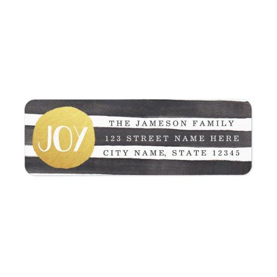 Joyous Stripes Return Address Labels