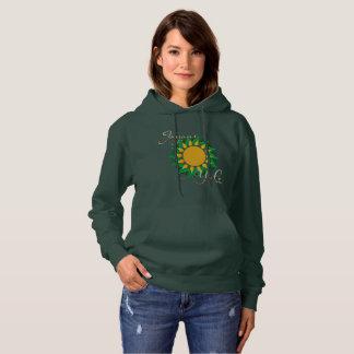 Joyous Sun Wreath Ladies Hoodie