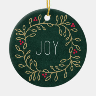 Joyous Tradition Ceramic Ornament