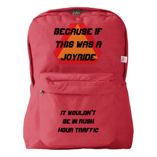 joyride, truth of right of way, slow moving backpack