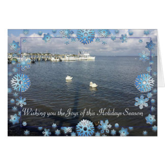 Joys of the Holiday Season Fire Island NY Card