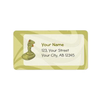 Joystick Address Label