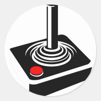 Joystick Classic Round Sticker