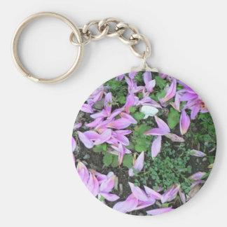 JP Denyer Presents Jeri's Purple Dahlias Basic Round Button Key Ring