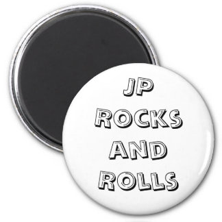 JP Rocks and Rolls Magnet