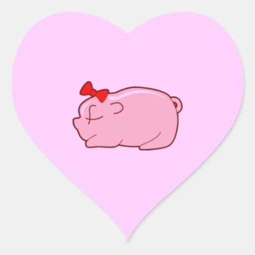 jpg_pig501j MINIMAL CARTOON PASTEL PETS PINK PIGGY Sticker