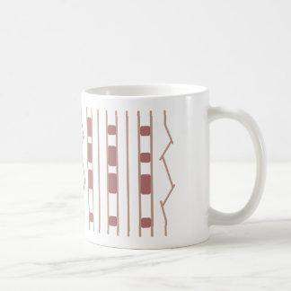 JPL Mars Rover Tire Print Beige & Rose Coffee Mug