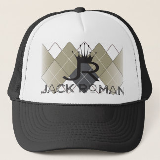 JR Argyle Black Trucker Hat