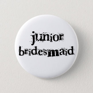 Jr. Bridesmaid Black Text 6 Cm Round Badge