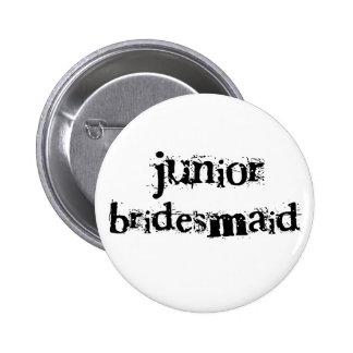 Jr. Bridesmaid Black Text 6 Cm Round Badge