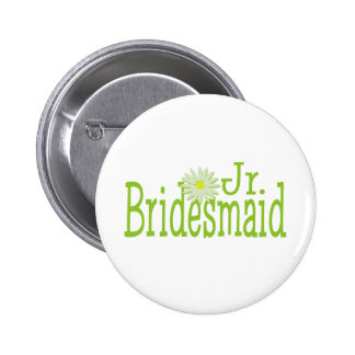 Jr. Bridesmaid/ Daisy theme 6 Cm Round Badge