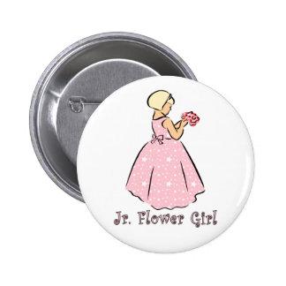 Jr Flower Girl Wedding ID Button