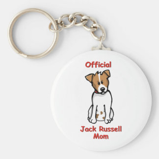 JR Mom Basic Round Button Key Ring
