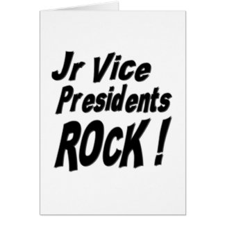 Jr Vice Presidents Rock! Greeting Card