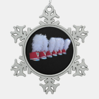 JSU SHAKO SNOWFLAKE PEWTER CHRISTMAS ORNAMENT