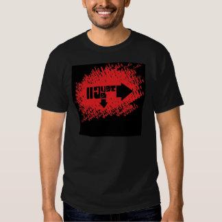 JU Cursive Black Tshirt