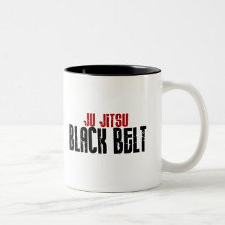 Ju Jitsu Black Belt Two-Tone Mug