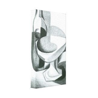Juan Gris - Bottle and fruit bowl Stretched Canvas Prints