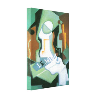 Juan Gris - Bottle and fruit bowl Gallery Wrapped Canvas