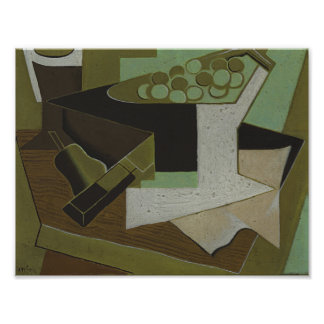 Juan Gris - Bunch of Grapes and Pear Poster