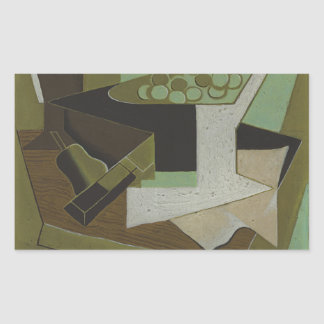 Juan Gris - Bunch of Grapes and Pear Rectangular Sticker