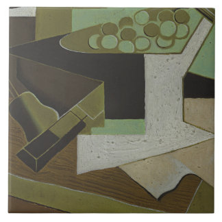 Juan Gris - Bunch of Grapes and Pear Tile
