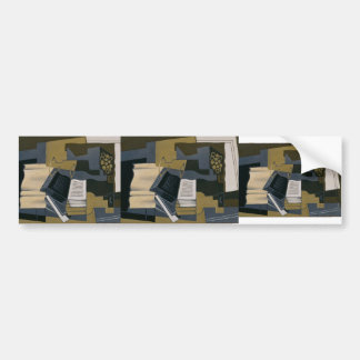 Juan Gris- Carafe and Book Bumper Stickers