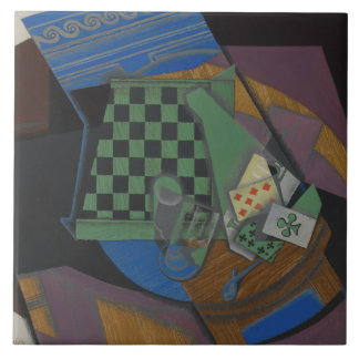 Juan Gris - Checkerboard and Playing Cards Ceramic Tile