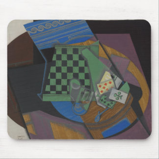 Juan Gris - Checkerboard and Playing Cards Mouse Pad