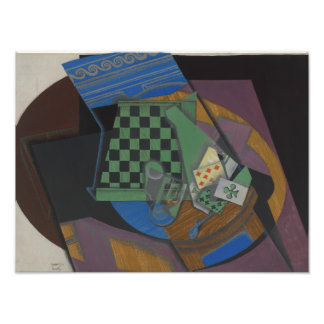 Juan Gris - Checkerboard and Playing Cards Photo Print